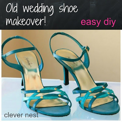 wedding shoe makeover with paint #diy #high_heel #clever_nest