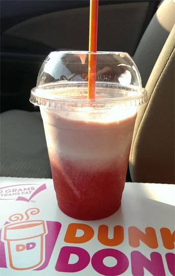 Dunkin Donuts Blue Raspberry Coolatta Review - Ice cream
