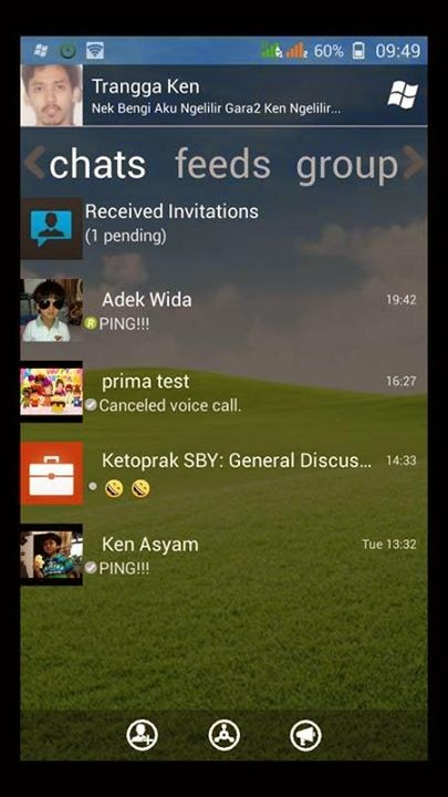 App BBM2 BBM3 BBM4 versi Clone windows phone versi 2.4.0.11 apk transparan