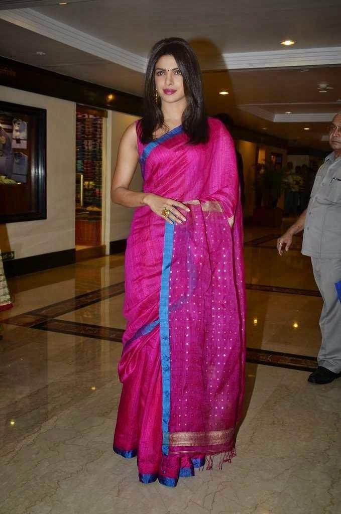 priyanka chopra saree stills