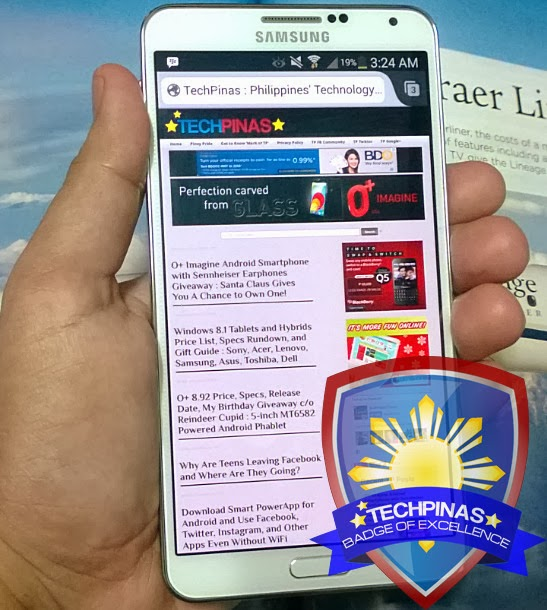 Samsung Galaxy Note 3, TechPinas Badge of Excellence