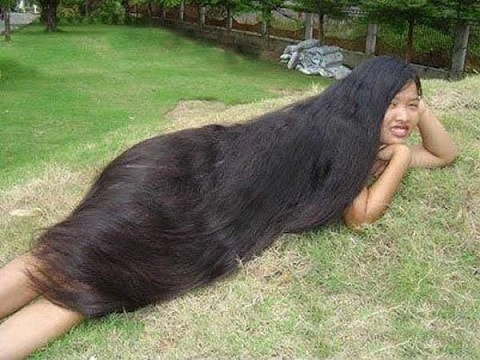 funny long hair picture, girl with long hair, neenda thalai mudi, thalai mudi valarum neelam alavu