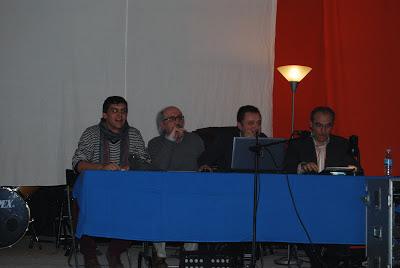 Jesus Fernandez, Carlos Barraquete, Jose Mª Lozano, Multisala rural Campecho, Villanueva de los Infantes, Campo de Montiel, Castilla la Mancha, España