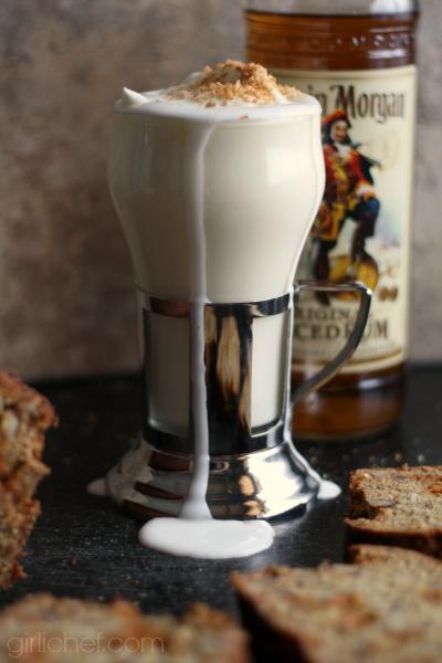 Boozy Coconut White Hot Chocolate + Spiked Banana Bread # ...