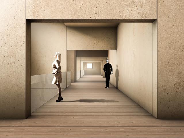 RENDERS 3D PFC - Infografía 3d interior para el PFC ETSAM de Adriana Quesada Sánchez - ETSAM UEM UCJC ESAYT USPCEU USP CEU IE UAX UAH UPM ETSA