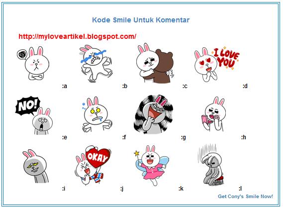 Cara Memasang Emoticon Stiker Cony Lucu [Line] di Komentar Blog
