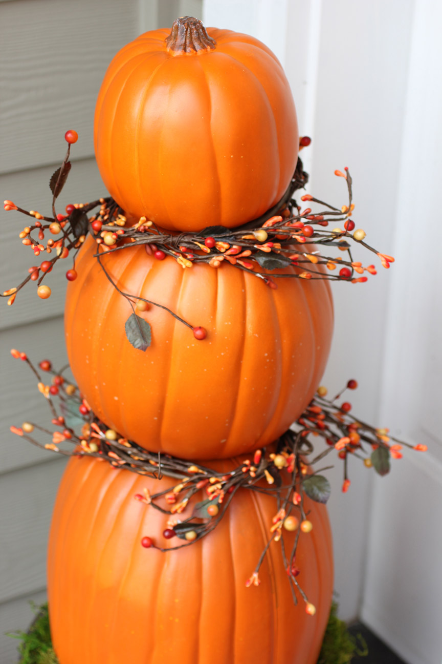 Repeat crafter me pumpkin topiaries for 3 tier pumpkin decoration