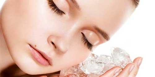 iluminar la piel con hielo