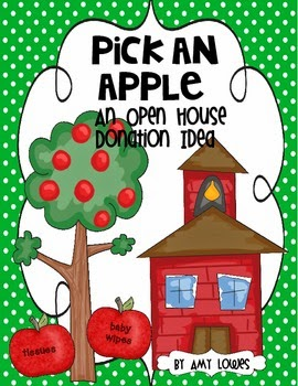 http://www.teacherspayteachers.com/Product/Pick-an-Apple-An-Open-House-Donation-Idea-FREEBIE-819671