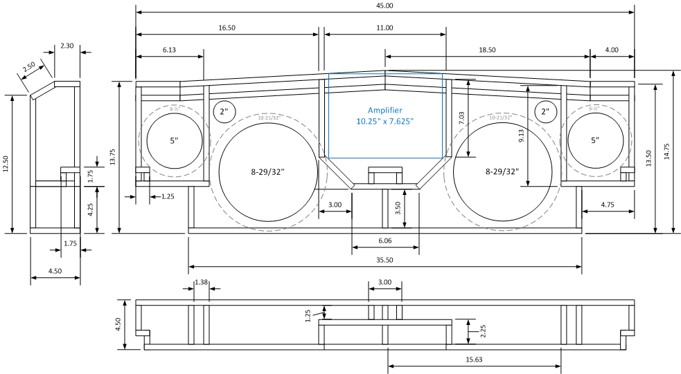 shallow mount subwoofer box design plans  shallow  free