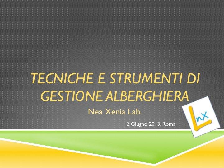 Corso gratuito per Albergatori: Tecniche e Strumenti di Gestione Alberghiera