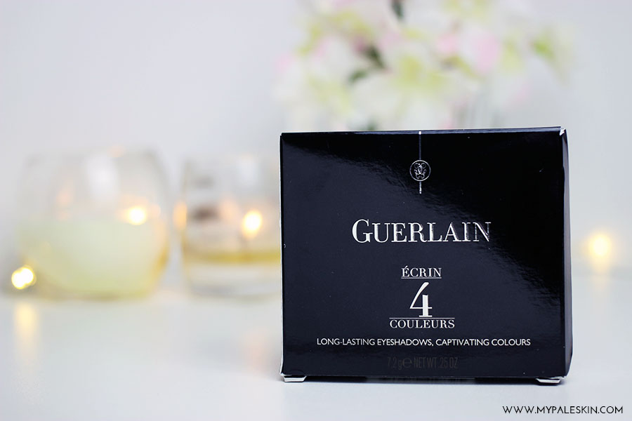 guerlain, ecrin 4 couleurs, 17 les violines, swatch, pale skin, my pale skin, em ford, eyeshadow, guerlain,