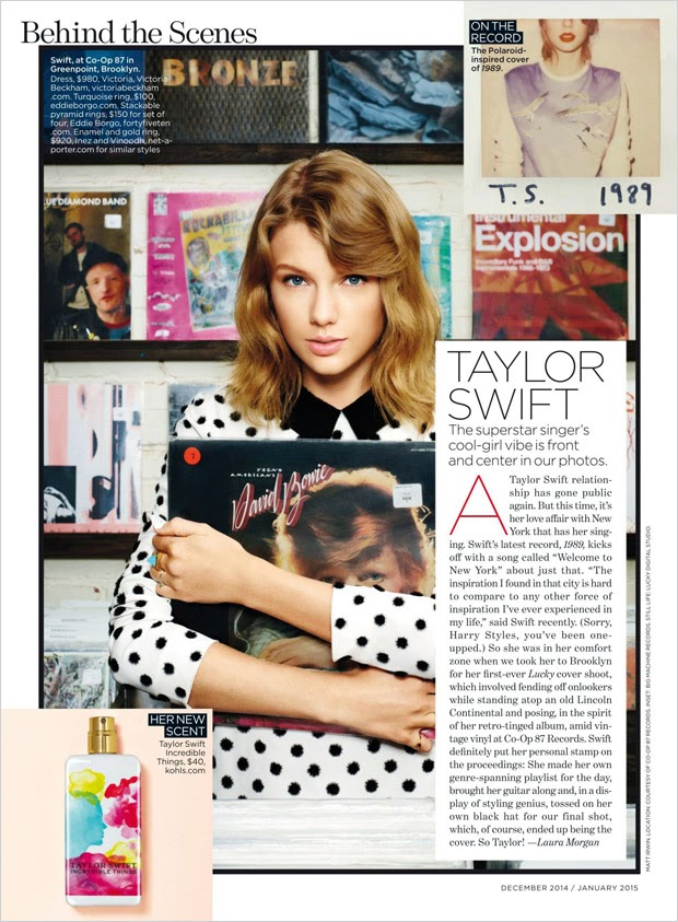 Taylor Swift covers Lucky Magazine December/January 2014/15