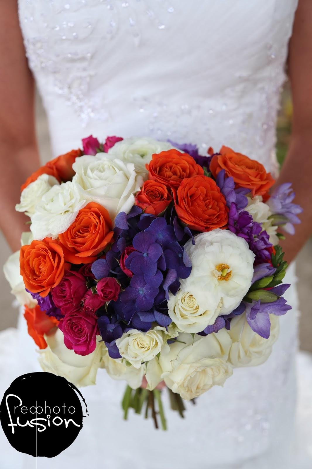 Mokara Floral Design Purple Orange And Pink Wedding