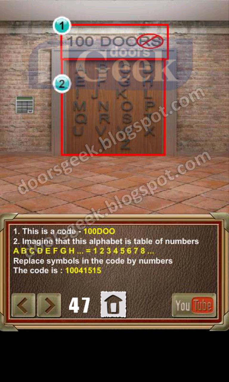 100 doors of revenge level 47 doors geek for Door 90 on 100 doors incredible