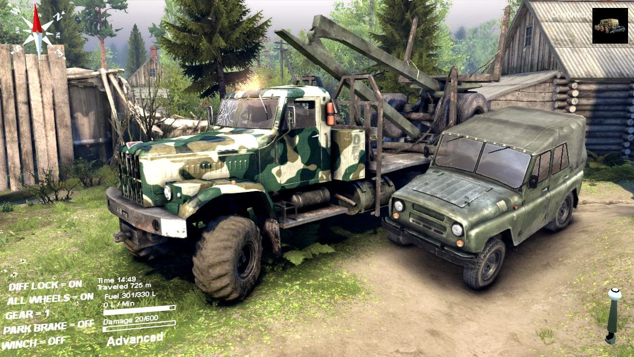 Spintires 2014 - камаз-54115 - youtube