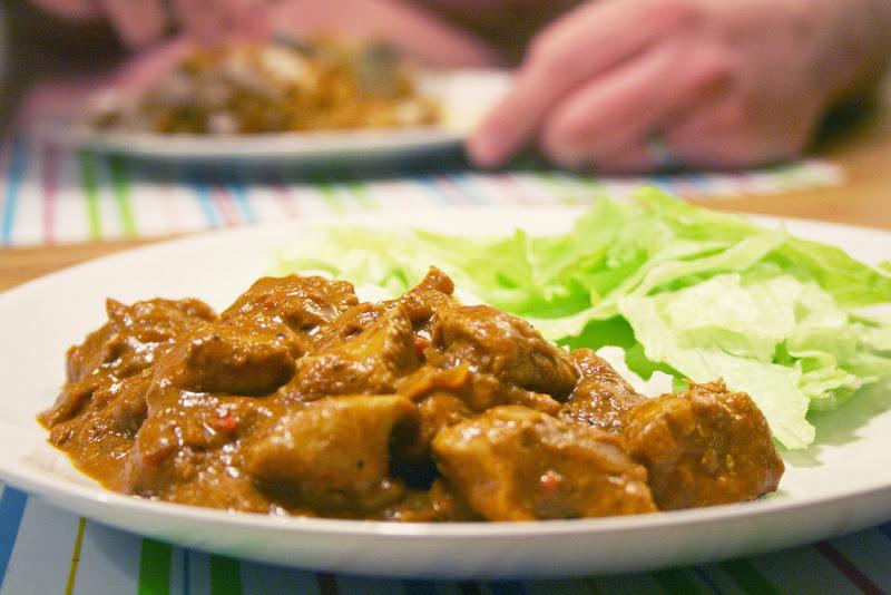 Stark indisk mat