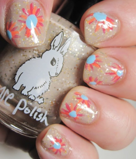 Hare Polish Return to Nature with Priti Flowers