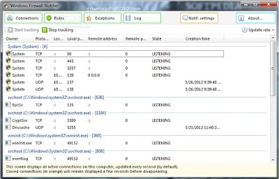 Windows Firewall Notifier 1.7 Free