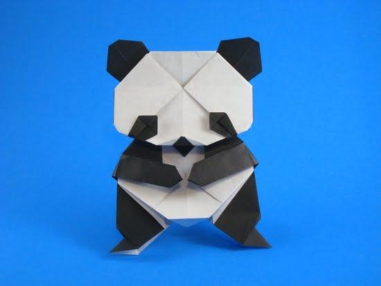 すべての折り紙 パンダ 折り紙 : PAPIROFLEXIA PARA TOD@S: OSOS PANDA