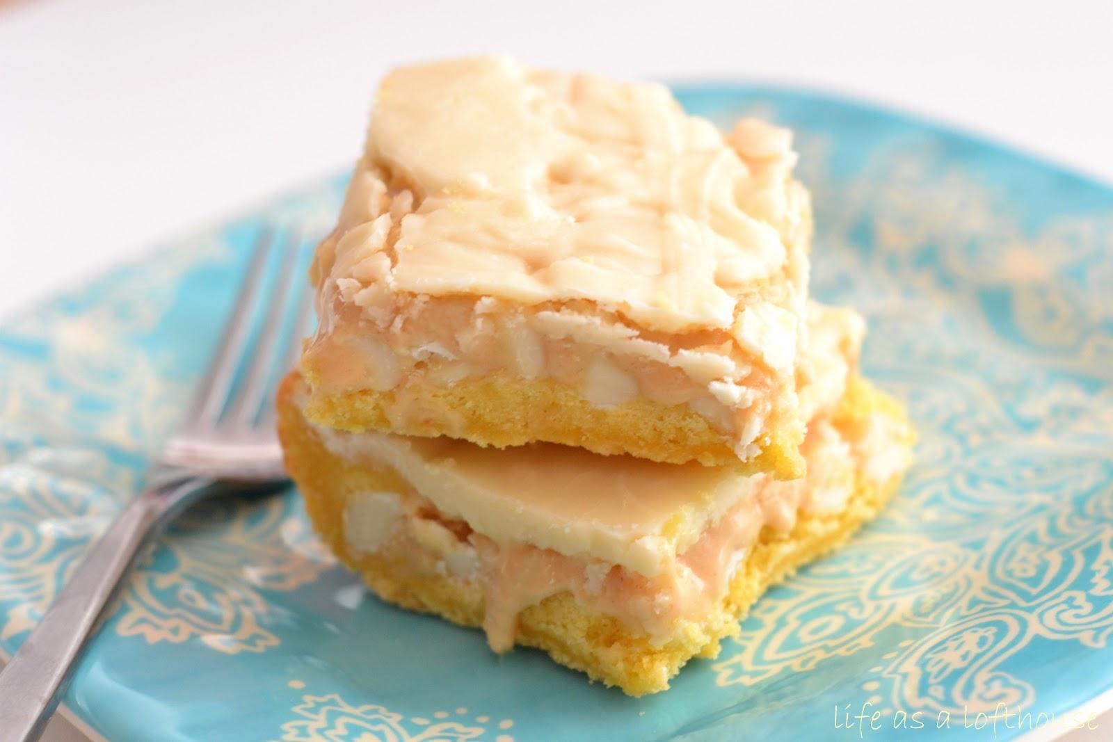 White Chocolate Marshmallow Cake Bars