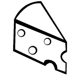 Desenhos de Queijo para imprimir