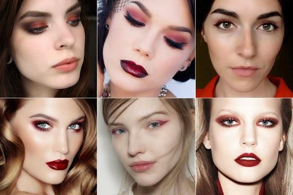 Marsala cor Pantone 2015 looks de maquiagem