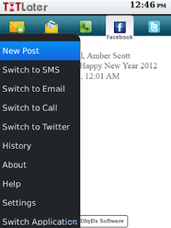 TXTLater v3.0.1 for BlackBerry