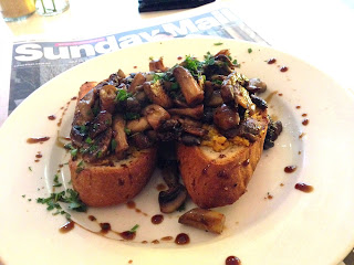 Mushroom bruschetta - Ruby's Organic Cafe, Stirling