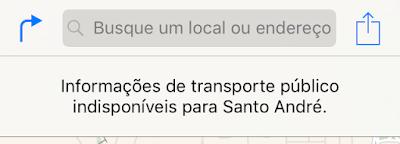 Informações de transporte público iOS 9 beta 5