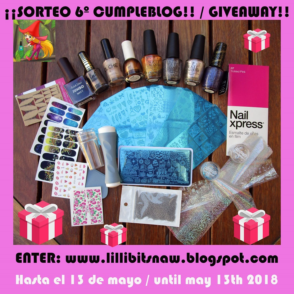 6º cumpleblog de Lillibit´s Nail Art World