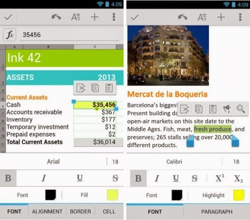 Google Quickoffice for Android and iOS