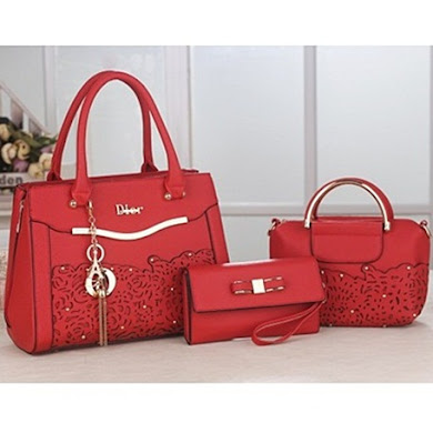 DIOR DESIGNER BAG (3 IN 1 SET) - RED