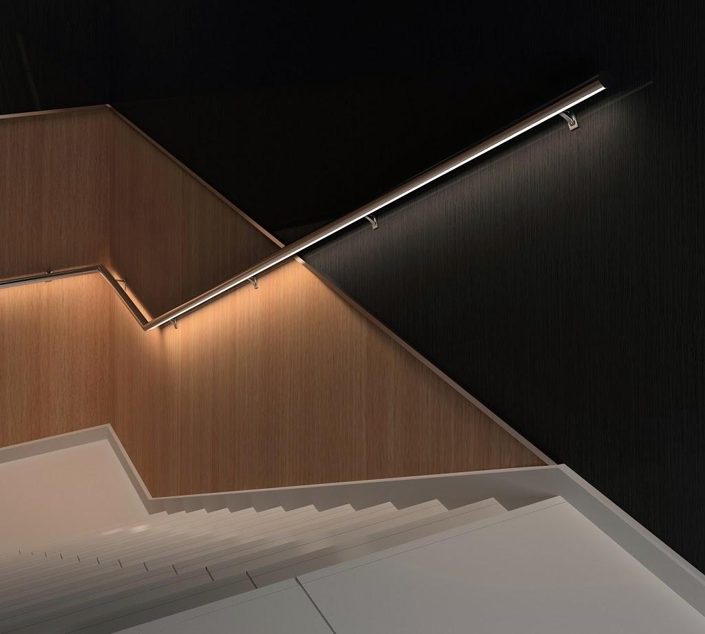 Marzua pasamanos con led para iluminar escaleras for Apliques de pared para escaleras