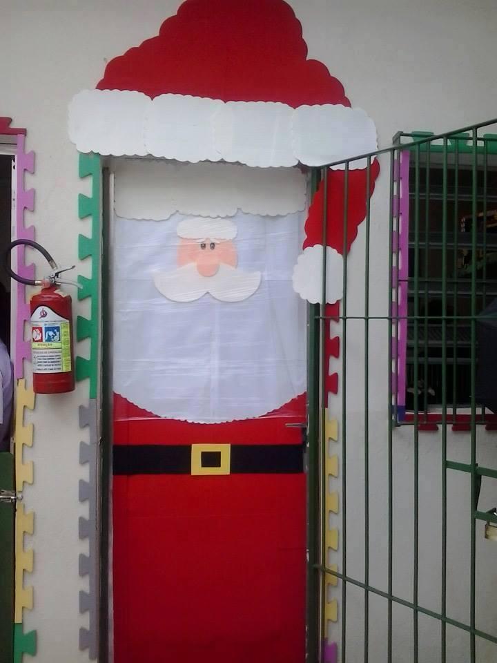 Portas enfeitadas para a natal ensinando com carinho for Decorar puertas navidad infantil