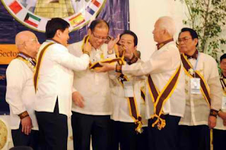 President Aquino receives the highest Order of the Knights of Rizal