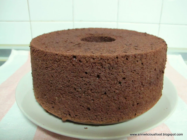 Japanese Chocolate Chiffon Cake Recipe
