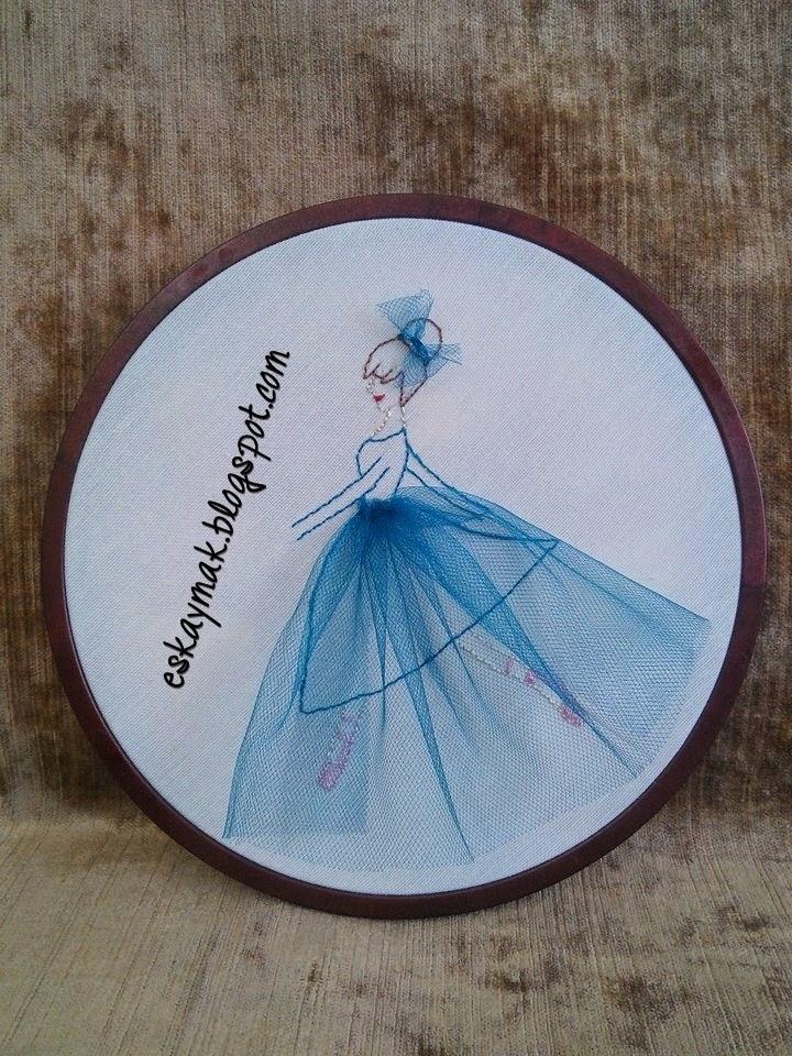 işleme, pano, satılık, balon, kız, girl, kurdele, tül, balerin, kedi, lamba, diy, do it yourself, craft, handmade,