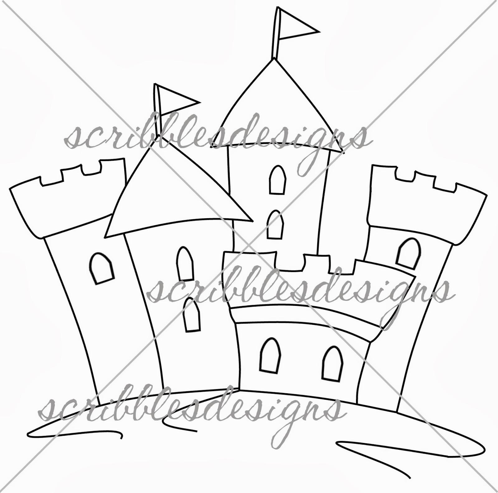 Scribbles Designs: #809 Sand Castle ($2.00)