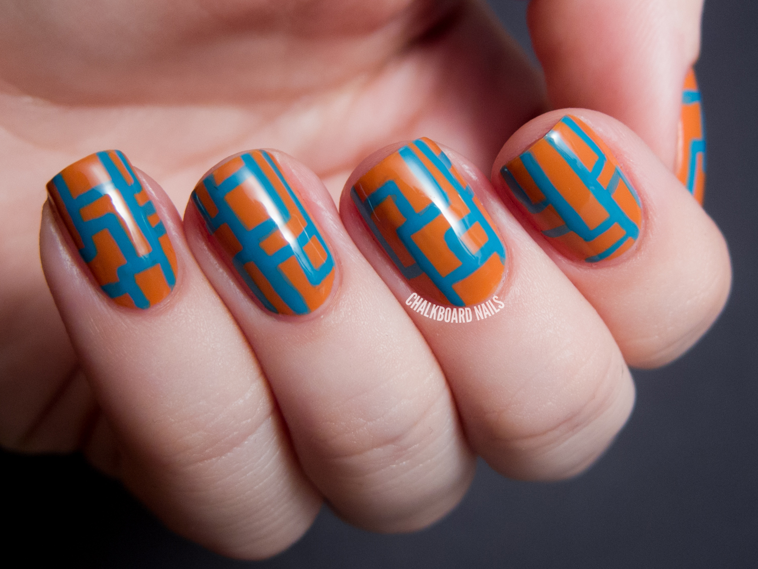 Touched By An Angle Lcn Shades Of Desert Nail Art Chalkboard
