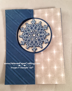 Circle Card thinlits snowflake care