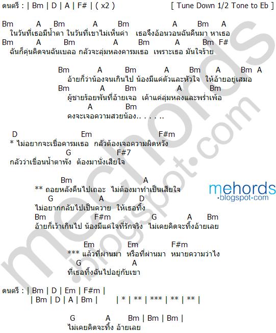 คอร์ดเพลง-คารม-เพชร สหรัตน์ feat.บัวผัน ทังโส