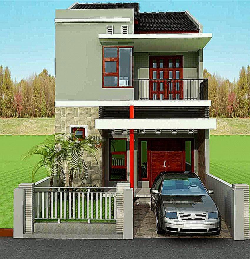 rumah minimalis lantai 2 tampak depan   Rumah Minimalis Idaman