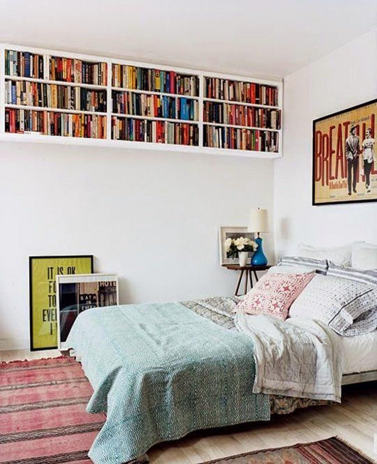 Полки в спальне - фото - полочки хранение дизайн.
