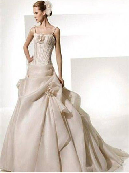 New york fashion christmas champagne color wedding for Champagne color wedding dresses