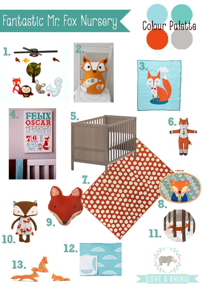 Little fox nursery : Baby fox nursery