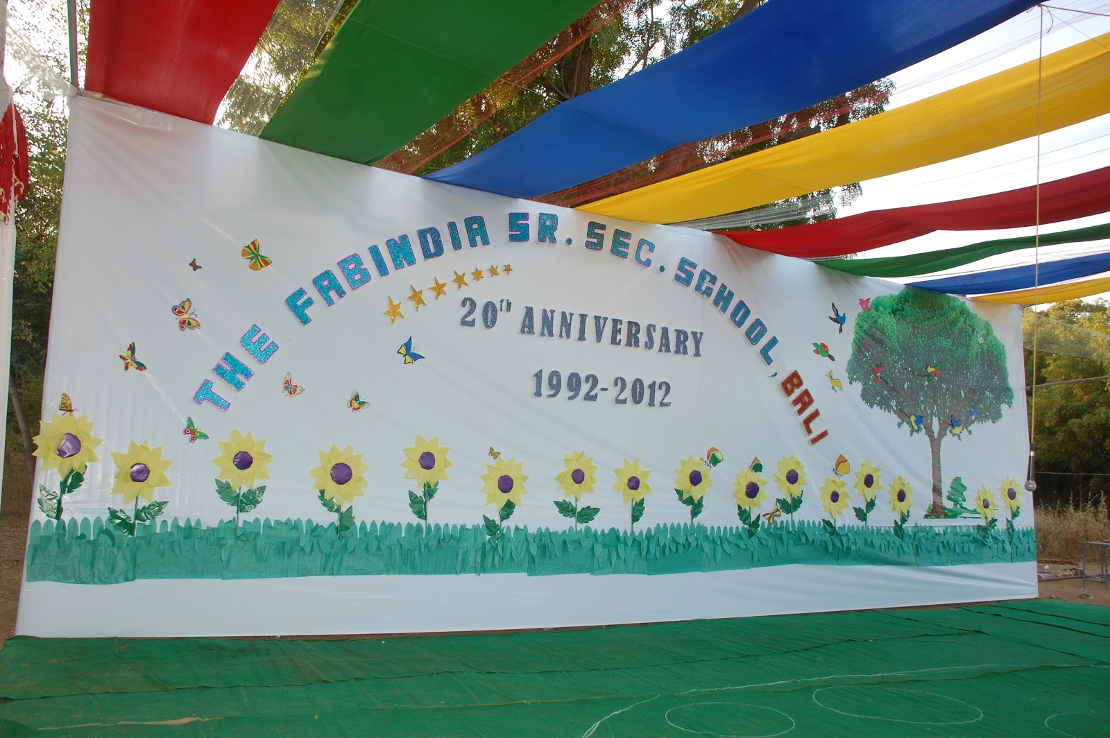 School stage decorations for annual day for Annual function decoration