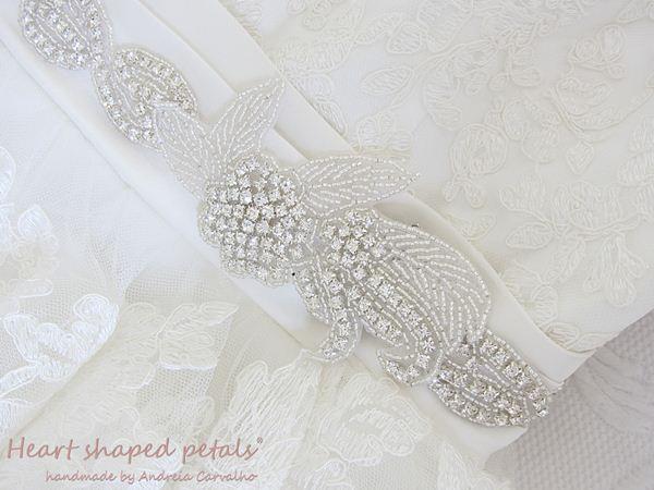 Bridal sash for wedding dress rhinestones
