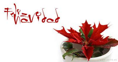 Tarjeta con feliz navidad y unas pascuas