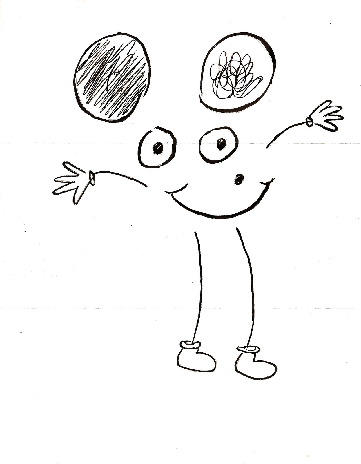 Learning How To Draw Mickey Mouse